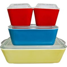Pyrex Primary Colors Oven-Refrigerator Set