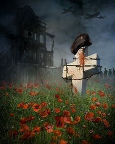 In Flanders fields the poppies blow Between the crosses, row on row, That mark our place; and in the sky The larks, still bravely singing, fly Scarce heard amid the guns below. We are the dead. Sho...