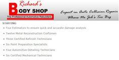 Richards Body Shop - Staffing Mechanical Technician, Automotive Detailing, Collision Repair, The Body Shop, Shopping