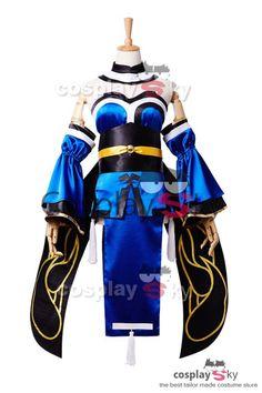 FateExtra CCC Caster Tamamo no mae Cosplay Costume_8