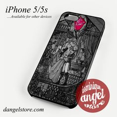 beauty and the beast stained glass Phone case for iPhone 4/4s/5/5c/5s/6/6 plus