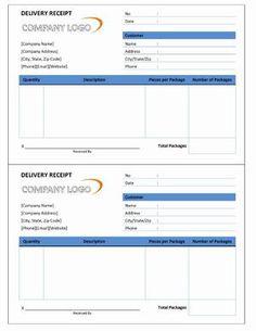 return receipt templates for goods receipt template pinterest