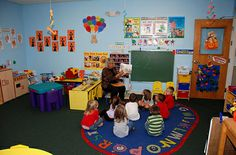 safe environment  in a nursery classroom . this room is very clean and tidy. there is a warm, loving and experienced staff who care for each child and guide them.