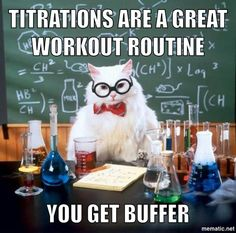 Funny pictures about Chemistry Cat Pun. Oh, and cool pics about Chemistry Cat Pun. Also, Chemistry Cat Pun photos. Chemistry Cat, Chemistry Classroom, Organic Chemistry, Chemistry Degree, Chemistry Teacher, Chemistry Revision, Chemistry Review, Humor Nerd, Nerd Jokes