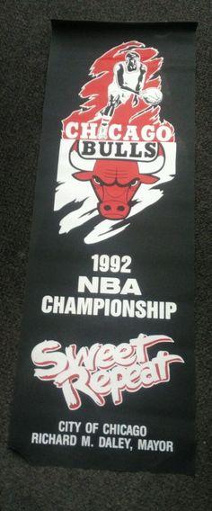 chicago bulls 1992 Championship Mini streetpole banner   Sports Mem, Cards & Fan Shop, Fan Apparel & Souvenirs, Basketball-NBA   eBay!