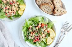 Dill Chickpea Salad - Creamy and Vegan - Plant Based Jess #Chickpea #garbanzobeans #garbanzos #chickpeas #cook #dinner #vegan #veganrecipes #veganfood #healthylifestyle #healthy #healthyfood #nutrition Mustard Pickles, Chickpea Salad, How To Double A Recipe, Pickle Relish, Lunch To Go, Vegan Vegetarian, Cobb Salad, Vegan Recipes, Plant Based