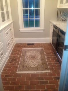70 best Kitchen and Dining Room Brick Tile floors images on ...