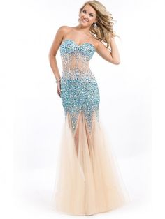 Hot Sale Trumpet/Mermaid Sleeveless Tulle Sweetheart Floor-Length Evening Dress
