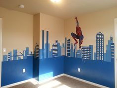 Spiderman | Mural for my 4 year old son's bedroom. Spiderman… | Flickr