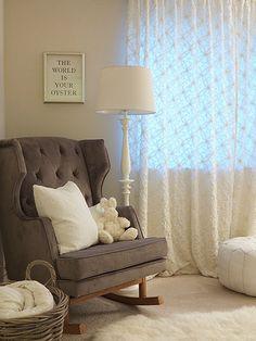 White nursery - designer: Jillian Harris, credit: Alison Dyer
