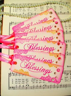 Gift Tags Blessings Hang Tags Set of 6 by PrayerNotes on Etsy, $5.95