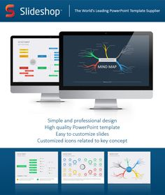Mind Map Flat PowerPoint Template #powerpoint #powerpointtemplate #presentation Download: http://graphicriver.net/item/mind-map-flat/8918311?ref=ksioks