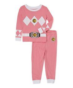 Mighty Morphin' Power Rangers Pink Pajama Set - Girls by Intimo #zulily #zulilyfinds
