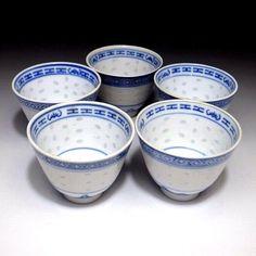 Rizsszem porcelán teáscsésze készlet