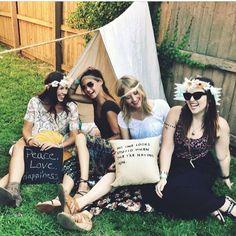 We had a Backyard Coachella party!