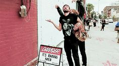 Kyle and Woody from Bastille. This is why they're the best things ever