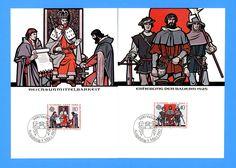 Liechtenstein - Scott 733-34 Europa Set of 2 First Day of Issue Maxi Cards