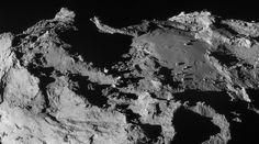 Il nucleo della cometa visto dalla sonda Rosetta  (Foto ESA/Rosetta/NAVCAM)