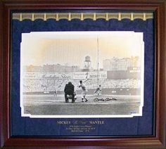 Autographed Mickey Mantle Photograph - Framed 16x20 Upper Deck - Autographed MLB Photos ** Click image for more details.