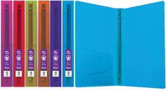 """Bazic 1"""""""" Glitter Poly 3-Ring Binder with Pocket Case Pack 48"""