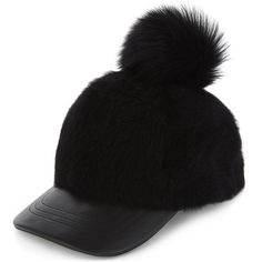 Karl Donoghue Ladies Grey Feminine Pom-Pom Cashmere Cap ($315) ❤ liked on Polyvore featuring accessories, hats, peaked hat, strap hats, 5-panel hat, cashmere pom pom hat and pompom hat