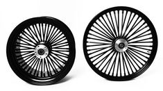 Set of Black Fat Mammoth 48 Spokes Motorcycle Wheels, Decorative Plates, Fat, Black, Home Decor, Decoration Home, Black People, Room Decor, Home Interior Design