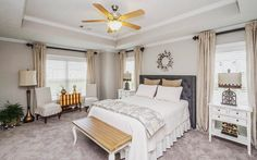 The Owner's Suite in any home should be a true retreat...does your bedroom have that restful feel?  #iveyhomes #decor #design #interiordesign #modelhome #homedecor #newhome #bedroom Ivey Homes is a local Augusta GA home builder. Homes from the Low $100's to custom.