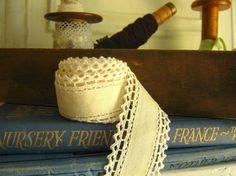 Ribbon with Cotton Crochet Trim