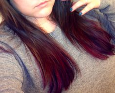 my pink and purple #princess dip dye tips that Mitch did #hair #haircolor #dipdye