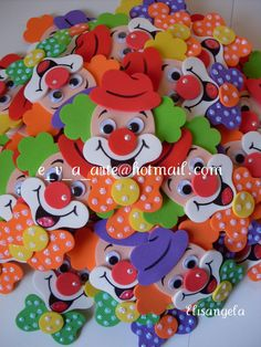 E-mail - Sonja Geeraerts - Outlook Clown Crafts, Carnival Crafts, Circus Carnival Party, Circus Birthday, Circus Theme, Birthday Diy, Foam Crafts, Preschool Crafts, Diy And Crafts