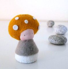 "Felt Plush Miniature Truffle Mushroom Baby (Girl!) Doll 'MOSA' ................................................................................................... by shroompers | Etsy ____________________________________________________ MOSA ""how can she be so cute and so difficult?"""