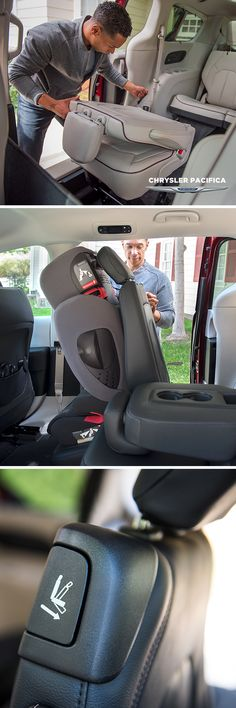Keep it simple. Easy Tilt Seating let third-row passengers exit while car seats stay put. #Chrysler #ChryslerPacifica #Pacifica #minivan #vanlife #kidfriendly #lifestyle #vangoals #dadlife #momlife