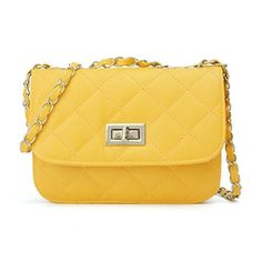 New Trending Cross Body Bags: OURBAG Women Leather Quilted Cross Body Shoulder Purse Evening Handbag Chain Strap Yellow Medium. OURBAG Women Leather Quilted Cross Body Shoulder Purse Evening Handbag Chain Strap Yellow Medium  Special Offer: $11.99  400 Reviews Description: -Colors for selection: Black,Beige, pink, Rose Red, Purple, Red, Yellow -Material: PU Leather. -Lining: Ordinary weave lining. -Detailed...