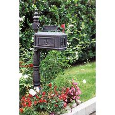 Darlee Pedestal Mounted Mailbox with Rain Overhang