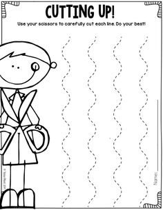 Pre-K Cutting & Tracing Worksheets