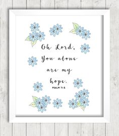 Psalm 71:5 Printable You Are My Hope by FourthAvePenandInk on Etsy