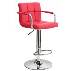 Contemporary Adjustable Linen or Leatherette Bar/Counter Stool