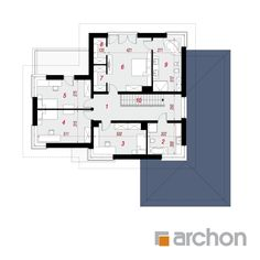 Willa Weronika 3 (P) Big Houses, Plan Design, Modern House Design, Planer, Habitats, Brick, House Plans, Floor Plans, How To Plan