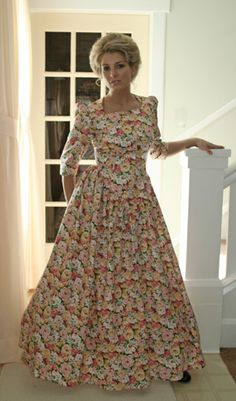 Recollections: Calico Dress - Just ordered this in a pretty cream with little blue flowers.