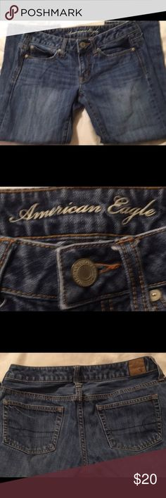 Women's sz 2 American Eagle Jeans American Eagle size 2 jeans boy cut gently used but no tears or stains. American Eagle Outfitters Jeans Boyfriend
