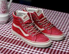 Vans Vault Sk8 Hi Zip Reissue LX Jester Red