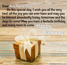Gift For You Birthday Wishes Friend With Name Mum Happy