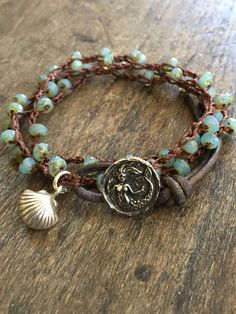 "Mermaid Crochet Bracelet Knotted Blue Multi Wrap Bracelet ""Beachcomber"" Beaded Crocheted Jewelry by Two Silver Sisters twosilversisters Bracelet Crochet, Bracelet Knots, Jewelry Bracelets, Hemp Jewelry, Wrap Bracelets, Pandora Bracelets, Hippie Jewelry, Beach Jewelry, Sea Glass Jewelry"