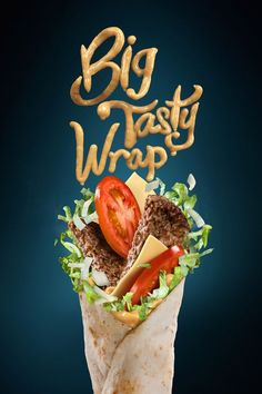 Gelmi Art Studio on Behance food design Big Tasty Menue Design, Food Graphic Design, Food Menu Design, Food Poster Design, Graphisches Design, Shawarma, 21 Day Fix, Big Tasty, Kebab