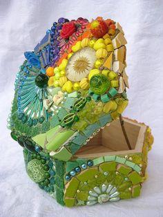 mosaic rainbow box