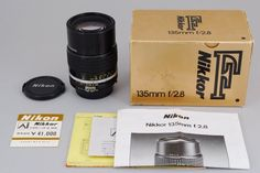[Unused MINT]NIKON Ai Nikkor 135mm F2.8S w/box from Japan #37-943399 #Nikon