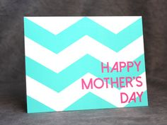 #Modern Mother's Day Card Chevron Card for by #patternedpomegranate #mothersday #chevron