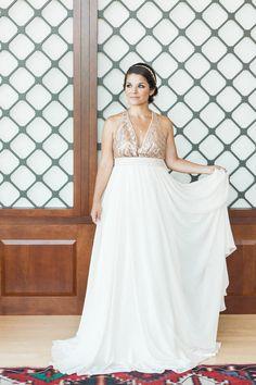 TRUVELLE gold sequin wedding dress #weddingdress @weddingchicks