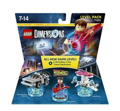 Lego Dimensions Level Pack: Back to the Future. (Marty McFly, DeLorean Time Machine, Hoverboard, and Hill Valley Time Travel Adventure included)