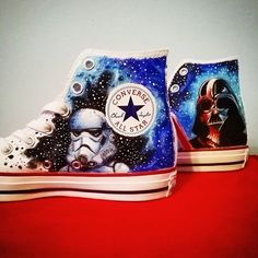 Discover recipes, home ideas, style inspiration and other ideas to try. Disney Converse, Cool Converse, Painted Converse, Painted Canvas Shoes, Painted Sneakers, Converse Star, Disney Shoes, Hand Painted Shoes, Converse Shoes